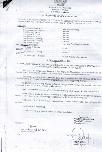 Barangay Ordinance