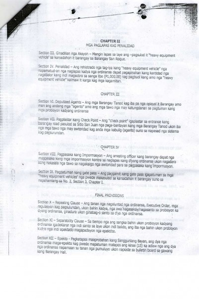Barangay Ordinance No. 5